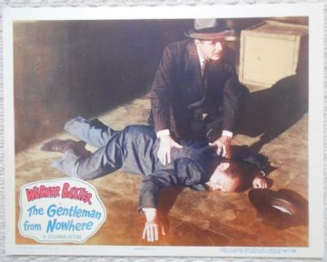 Gentleman from Nowhere, Original Lobby Card #6, Warner Baxter, Fay Baker, '48